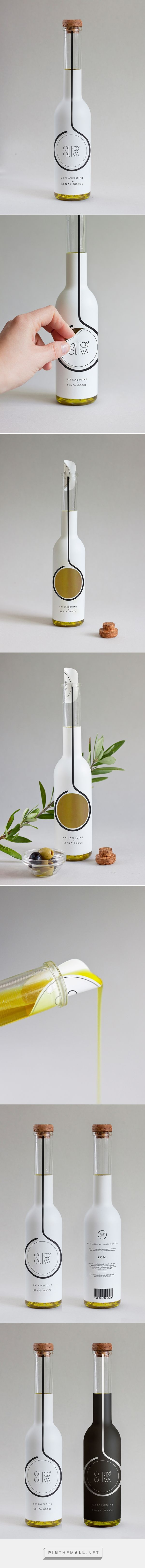 Encantador diseño de packaging, para el aceite de oliva ...  Pinners Thoughts: this is so clever!!!