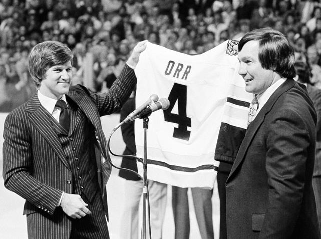 Bobby Orr and John Bucyk, Boston Bruins