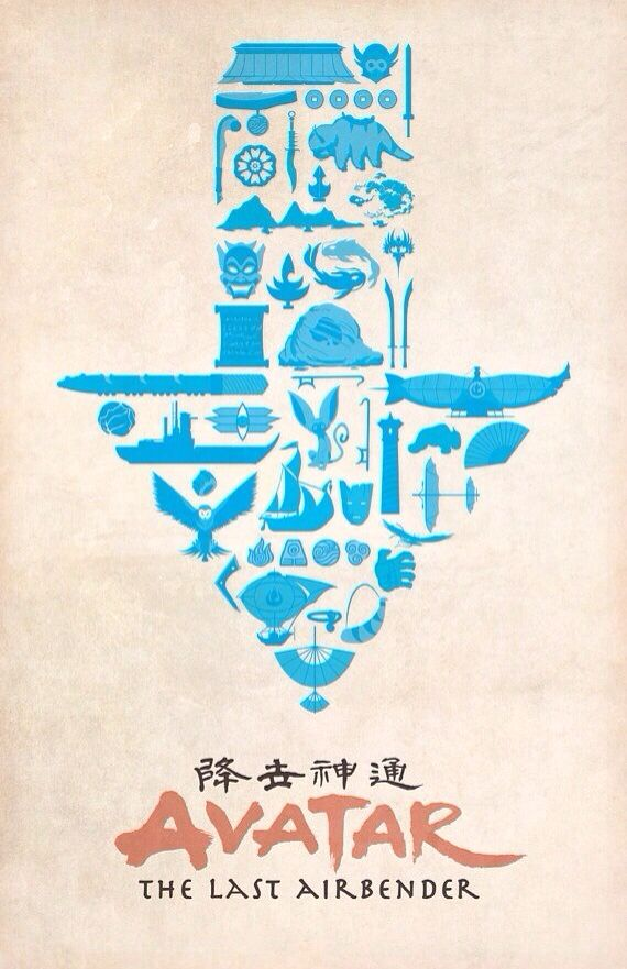 Avatar the Last Airbender Of you look at the little pictures, you see al the memories of atla