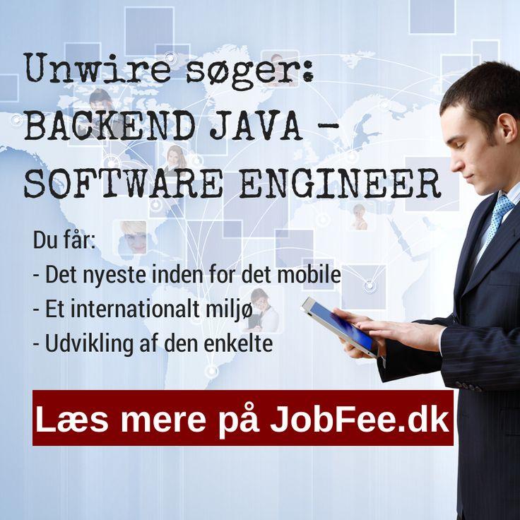 Unwire søger Backend Java profil. http://jobfee.dk/ledige-jobs/2014/01/backend-java-software-engineer/