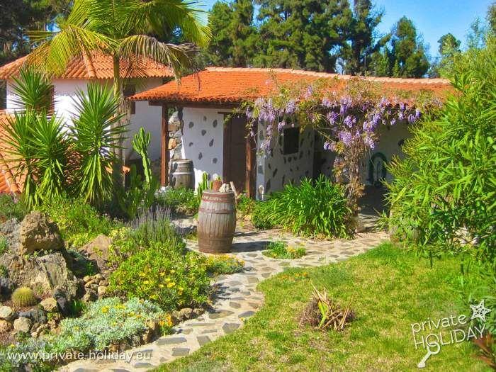 Kanarisches Ferienhaus mit Garten und Traumblick