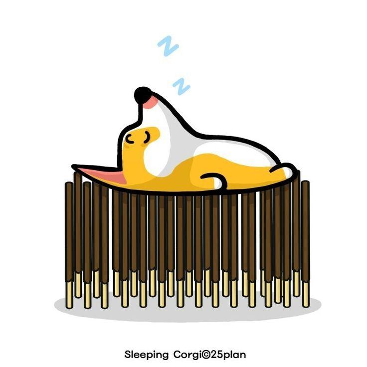 #낮잠 #슬리핑코기 #웰시코기 #캐릭터 #일러스트 #개 #반려견 #동물 #강아지 #잠자는개 #SleepingCorgi #Sleep #dog #WelshCorgi #Character #Corgi #illustration #funny #Cute #Comic #Toy #Children #Logo #Animal #pattern #image #artwork #graphic #graphicdesign #daily #PokiSticks