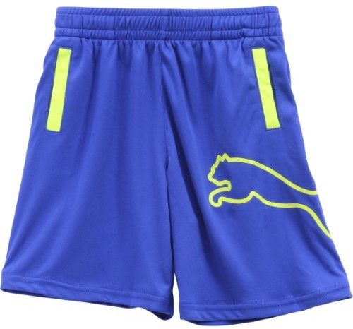 Puma Little Boy's Outline Logo Royal Blue Elastic Waist Gym Shorts Sz: 6