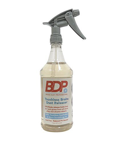 DipYourCar Brake Dust Pro 32oz - Touchless Wheel Cleaner, Safe On All Wheels! Quickly Removes Brake Dust and Grime - Spray On and Rinse Off! - Spray Brake Dust Pro onto your wheels (dipped or non-dipped), and let it sit for 2 minutes as it releases all the brake dust, dirt and grime from your wheels. Simply wash everything away and leave your wheels surgically clean. No scrubbing, no hand washing, no wheel brushes, no dirty rags or wate...