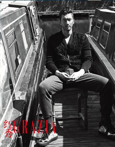 Choi Siwon in London for fashion magazine Grazia's Chinese edition