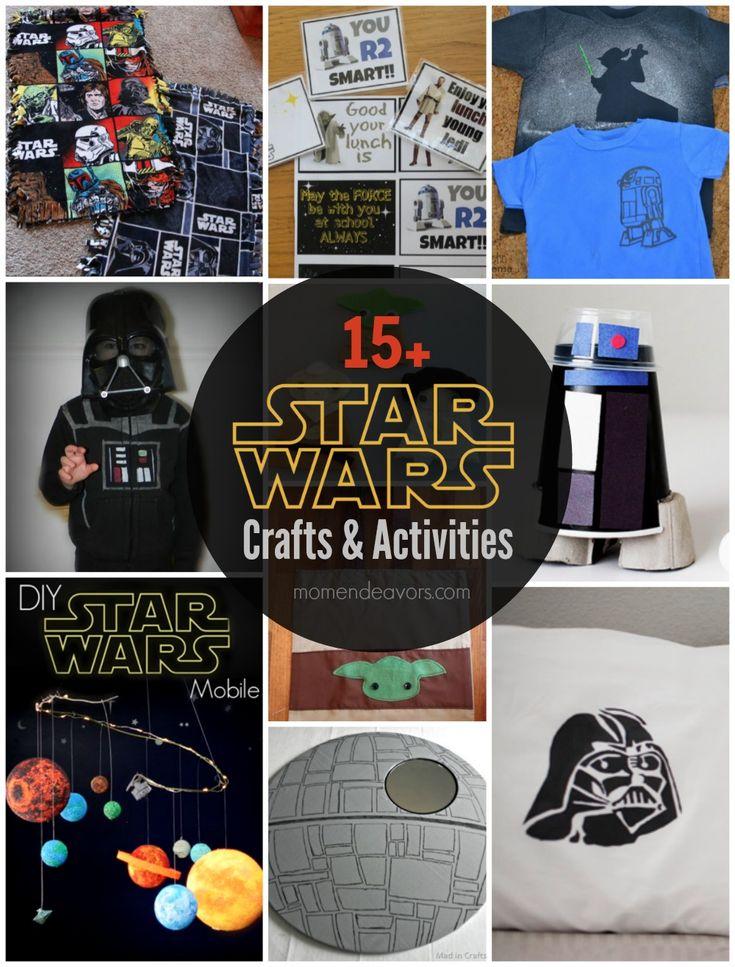 15+ Star Wars Crafts & Activities via momendeavors.com #StarWars #Maythe4th