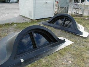 "FIBERGLASS ""EYEBROW"" DORMERS  Fiberglass-DormerFiberglass-Dormer-2Standard ""Eyebrow"" Dormers manufactured by Associated Fiberglass Enterprises are of a one-piece construction so they are watertight and have no seams."