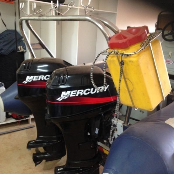 2x 40hp mercury motors with trim and tilt no rust 2001 models less than 100hours Both for R50000...179332602