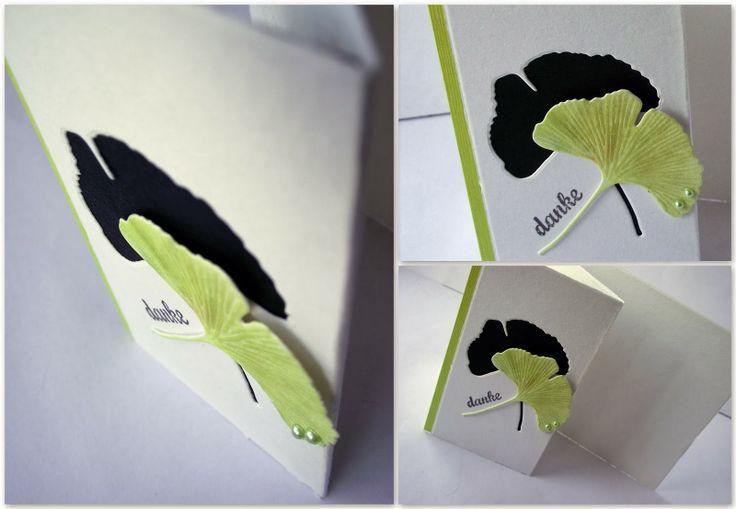ginko+leaf+die+card+ideas | Found on lisaskartenkunst.blogspot.de