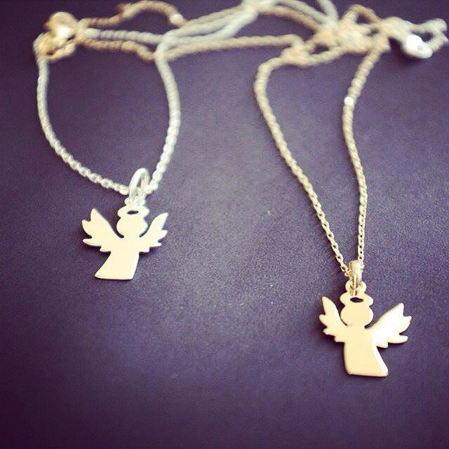 Style + Best wishes =  #talise #necklaces #angel #pendant #gold #silver #style