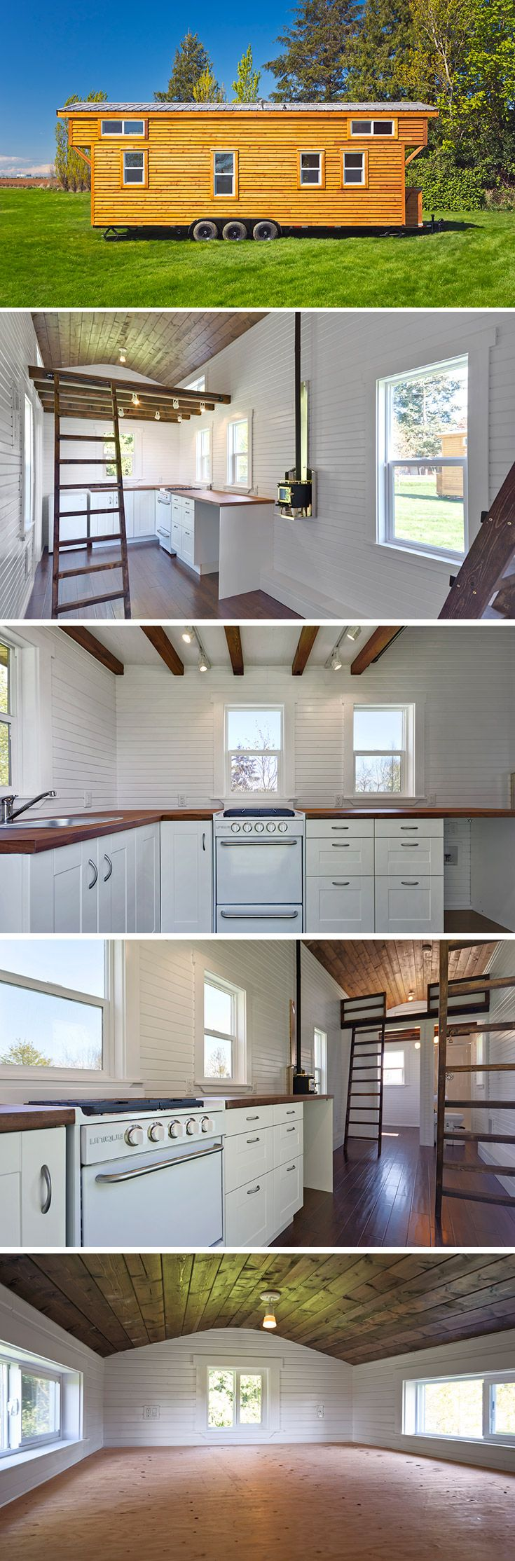 The Loft Edition is Mint Tiny Homes' largest tiny house with trailers available from 24′ to 30′.