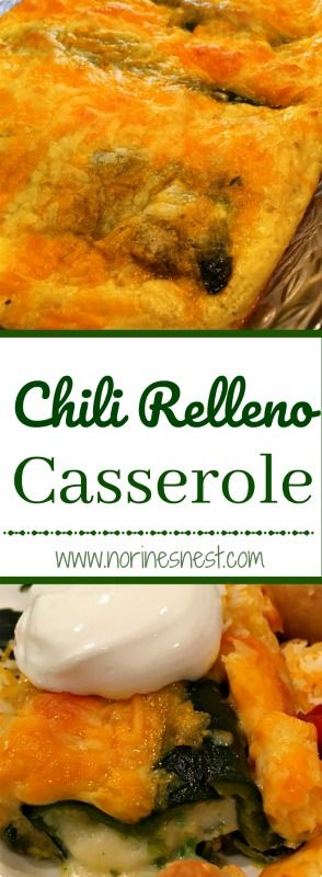 Great Quick and Easy Casserole that is jammed packed with amazing Chili Relleno flavors! Perfect for dinner or brunch. So yummy!