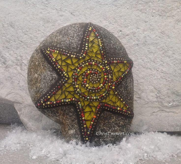 122 best Mosaics on Rocks images on Pinterest | Mosaic ...