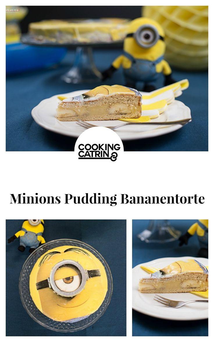 minions pudding bananen torte, pudding bananen torte, minions torte, kidsparty, kinderparty, minionsparty, pudding banana cake, cake, pudding cake, banana cake, cakerecipe, kuchen rezept