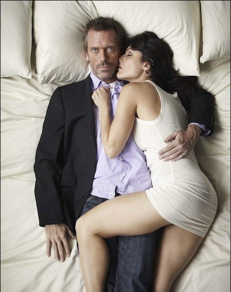 https://www.facebook.com/groups/fictionalcoupleswelove/  Dr. Gregory House (Hugh Laurie) and Dr. Lisa Cuddy (Lisa Edelstein)