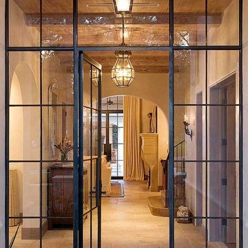Classic Steel Door Frame French Style With Wide Crippled