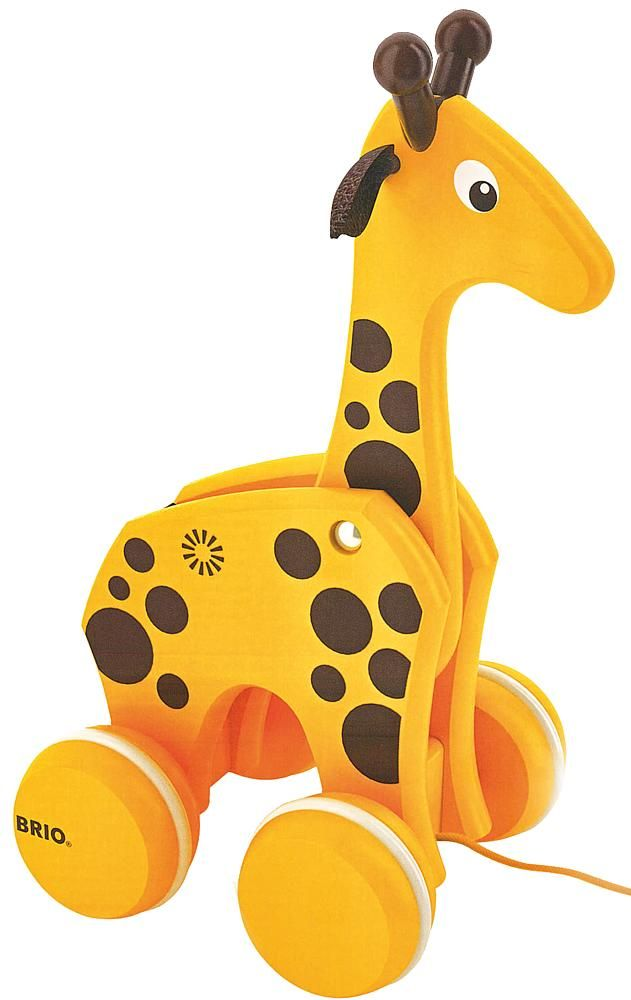 Pull Along Giraffe from grasshopperstore.com - I love wooden pull toys, this one is too cute!