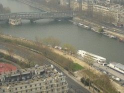 View of Seine River from the 2nd floor of the Eiffel Tower