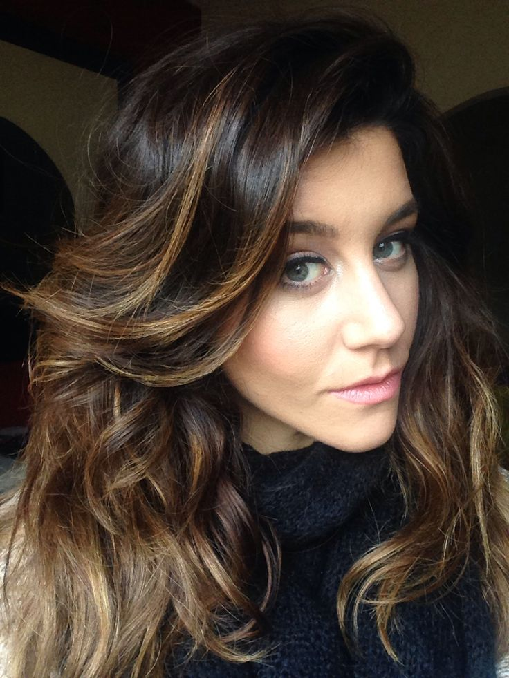 Brown hair with caramel highlights | Gorgeous hair | Pinterest