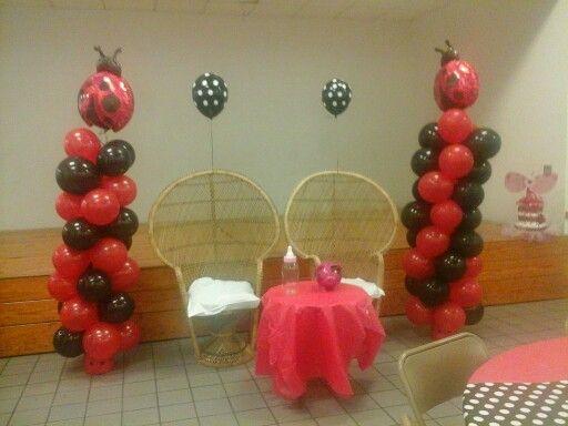 Lady bug ballon column