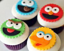 Sesam Straße Fondant Cupcake Toppers