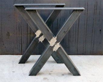 Industrial X Shape Metal Table legs 3x3
