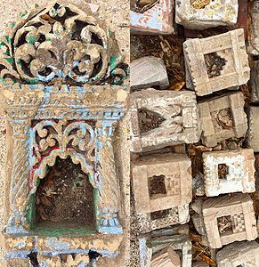 Vintage Stone Temple Niches From India   Coming Soon! Tierra Del Lagarto   Scottsdale  Furniture