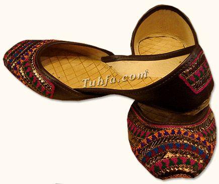 Ladies Khussa- Brown   Pakistani Indian Khussa Shoes