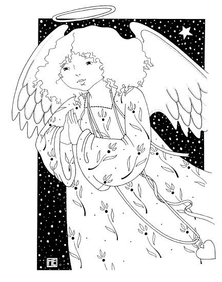 angel free coloring page from mary engelbreit - Mary Engelbreit Coloring Book