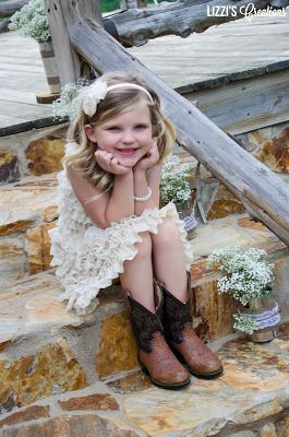 Lizzi's Creations: Project Wedding: A Country Flower Girl. My beautiful niece & flower girl, Ramsey Lynn. Cutest flower girl EVER!