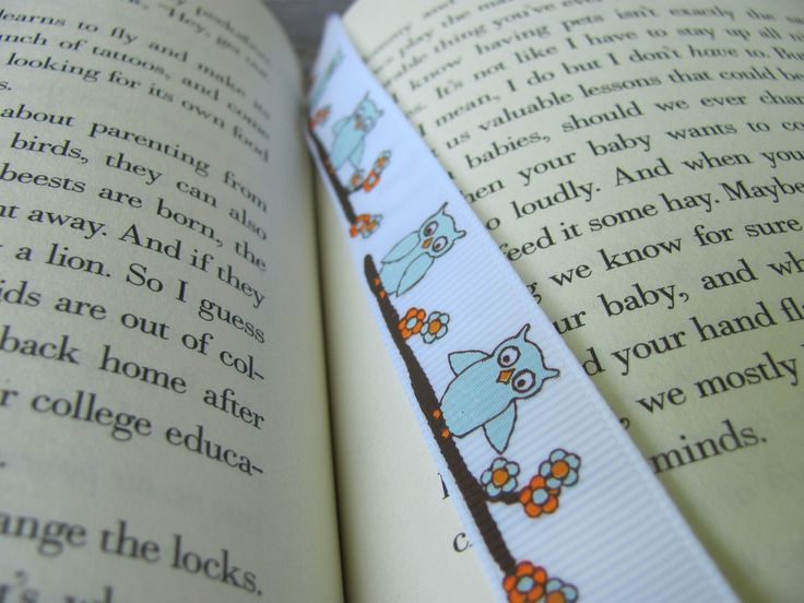 Make a Bookmark Out of Ribbon