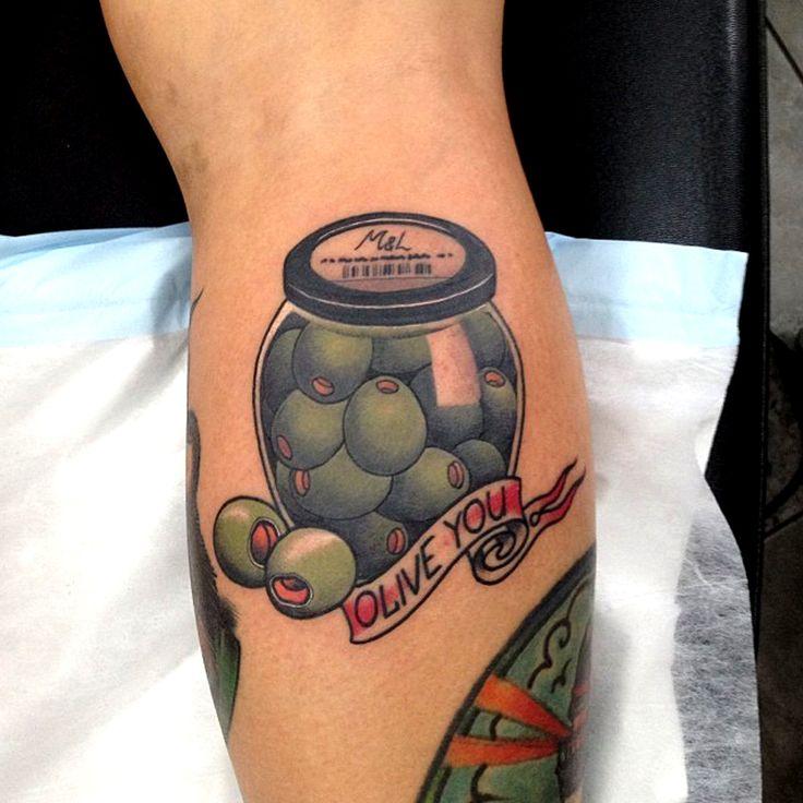 Olive tattoo done by Dan Molloy. @danmolloytattooer