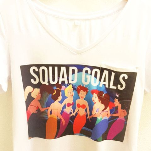 Wolf Fawn - Squad Goals Ariel's Sisters Shirt | The Little Mermaid Disney