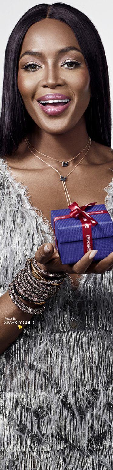 Naomi Campbell/Swarovski Holiday 2017 Ad Campaign