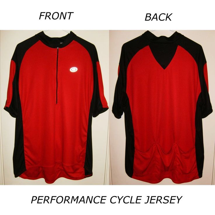 PERFORMANCE CYCLING CYCLE BICYCLE BIKE JERSEY RELAXED FIT EXTRA LARGE RED BLACK