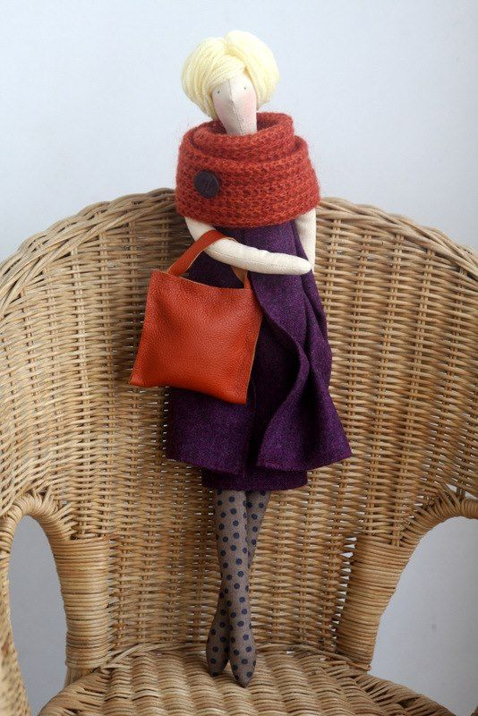 fabric doll   made by agah