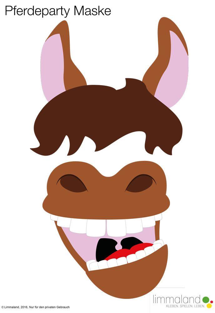 Ein Pferdegeburtstag für Kinder wird mit Photo Booth Props erst richtig lustig. Im Download von Limmaland gibt es aber noch viel mehr Dekorationsmaterial für eine schöne Pferdeparty. Nun kann der Kindergeburtstag kommen // horse birthday party ideas and decoration www.limmaland.com