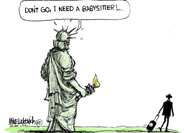 political cartoon us barack obama legacy statue of liberty