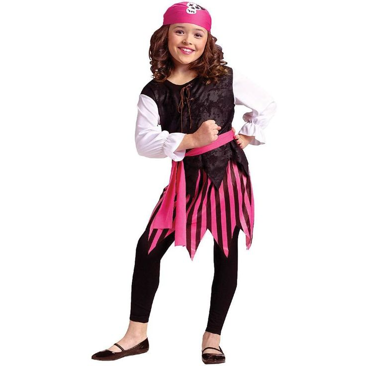Caribbean Pirate Girl Child Costume Size 8-10
