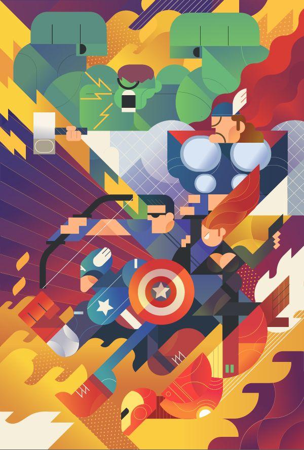 Avenger fan on Character Design Served