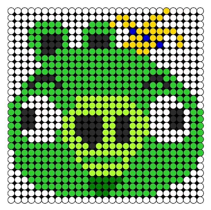 King Pig Perler Bead Pattern | Bead Sprites | Characters Fuse Bead Patterns