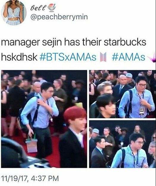 There was so much manager sejin appreciation that night I was LIVING