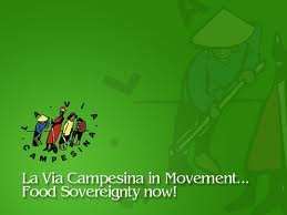 La Via Campesina in Movement - Food Sovereignty Now! [2011/21']  Belfast 15th April   An Droichead, Cooke Street, Belfast -near the UTV studios  Dublin 18th April La Dolce Vita Wine Bar, Cow's Lane, Temple Bar