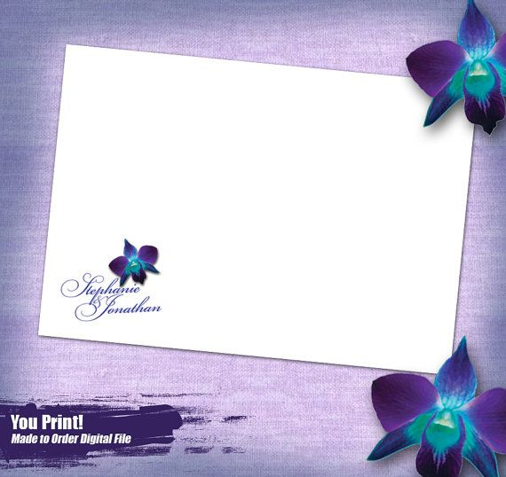 Blue Orchid Save The Date Printable Save the Date Purple