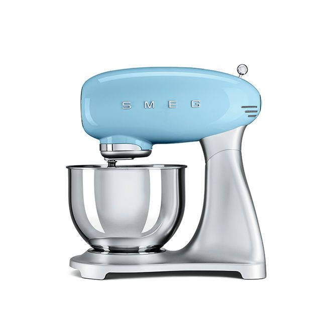 Stand Mixer by Smeg, $450 Known for retro refrigerators, Smeg has branched out into small appliances. The stand mixer features an aluminum body, stainless-steel bowl, and ten speeds.