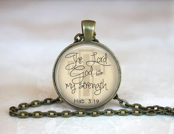 Habakkuk 3:19 Necklace Scripture Jewelry by ForAllSeasonsDesigns