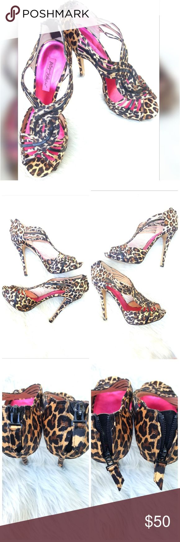 Betsey Johnson Cheetah Heels Gorgeous & sexy heels! Rock these beauties on a date night or a night out with the girl's! Betsey Johnson Shoes Heels