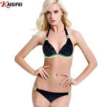 Kaisifei Chepest Bikini 2016 Sexy Bikini Brazilian Swimwear Women Bathing Suits Halter Swimsuit Biquini Femino Free Shipping(China (Mainland))