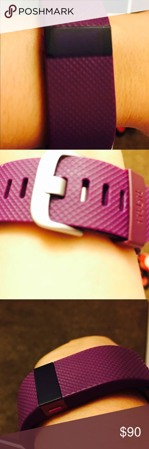 Fitbit Hr Fitbit hr. Brand new condition, purple color. Size small. With charging wire. fitbit Other