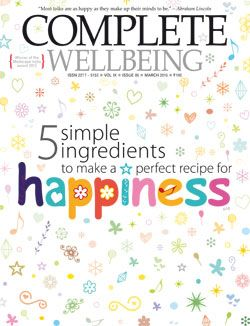 March 2015 issue: Happiness is easy; 5 simple ingredients to make a perfect recipe for happiness